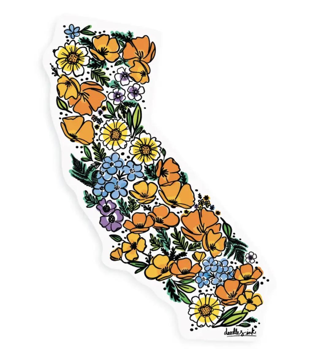 California Wildflowers Sticker