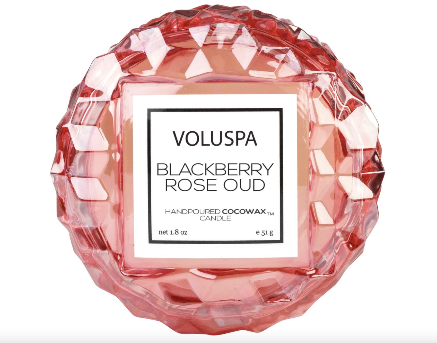 Voluspa Blackberry Rose Oud, Macaron Candle