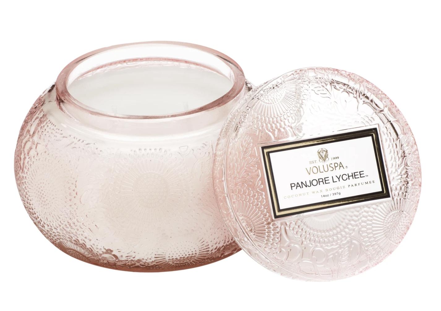 Voluspa Panjore Lychee, Glass Chawan Bowl Candle