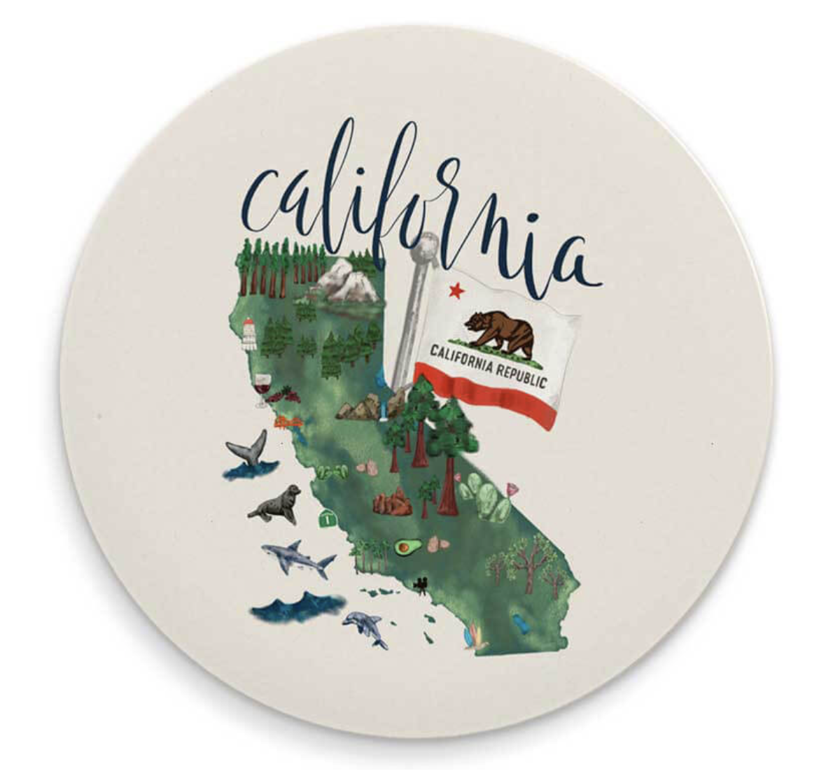 California Map Coaster