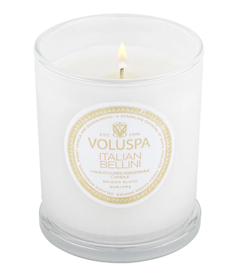 Voluspa Italian  Bellini, 9.5oz Classic Glass Jar