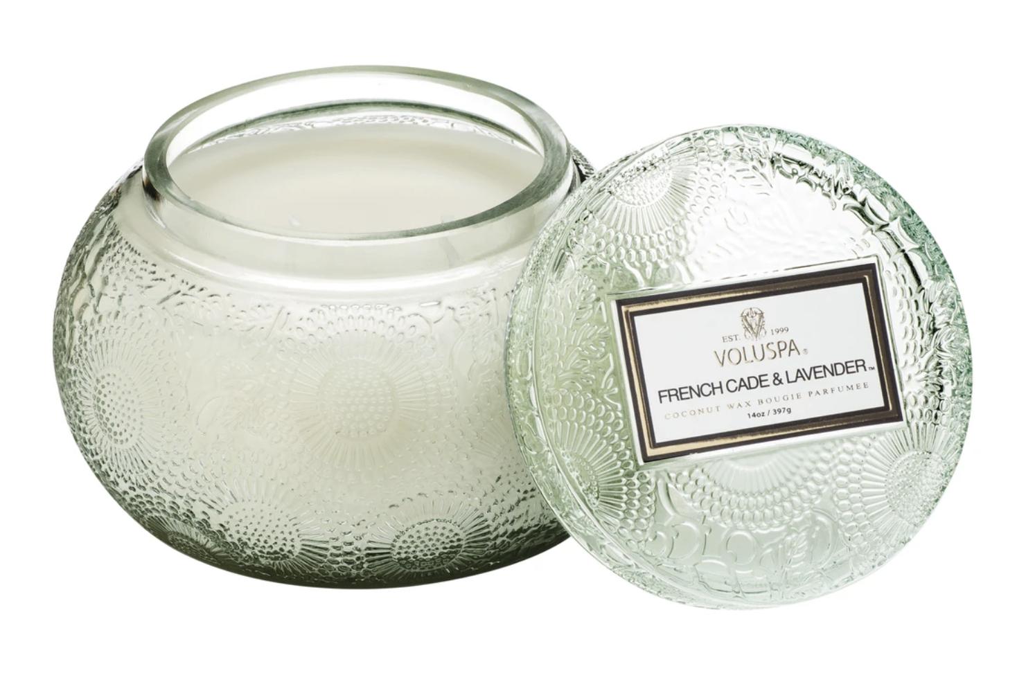 Voluspa French Cade Lavender, Glass Chawan Bowl Candle