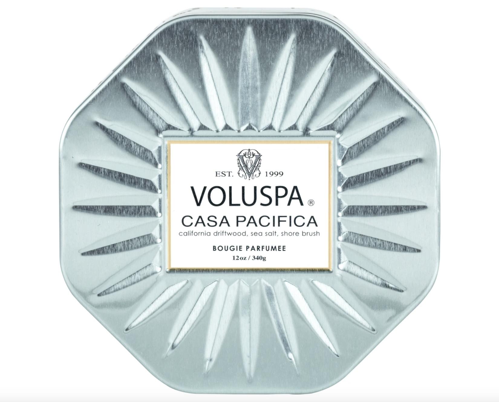 Voluspa Casa Pacifica, Octagon Tin 3-Wick Candle