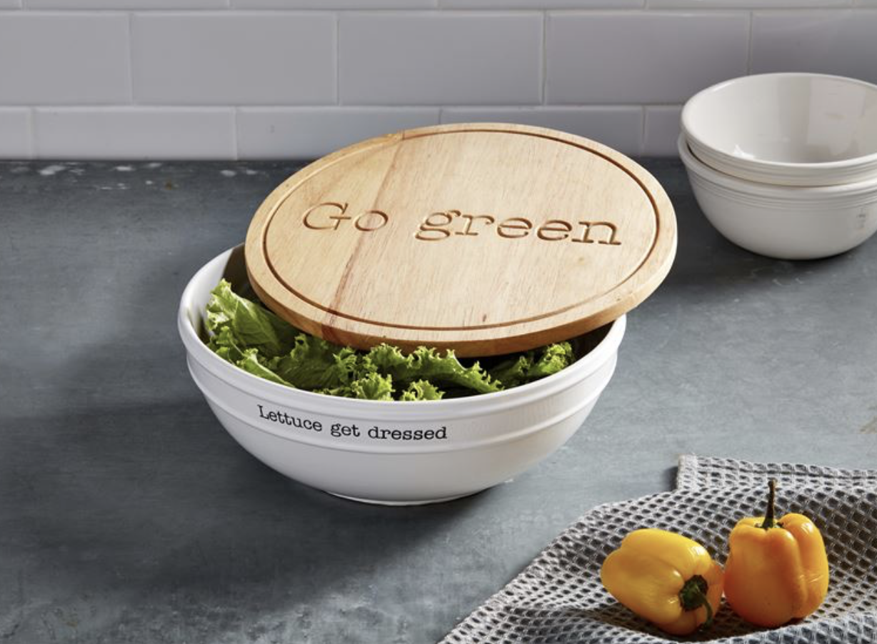 Circa Salad Bowl with Engraved Lid--CANNOT BE SHIPPED; STORE PICK UP OR LOCAL DELIVERY ONLY