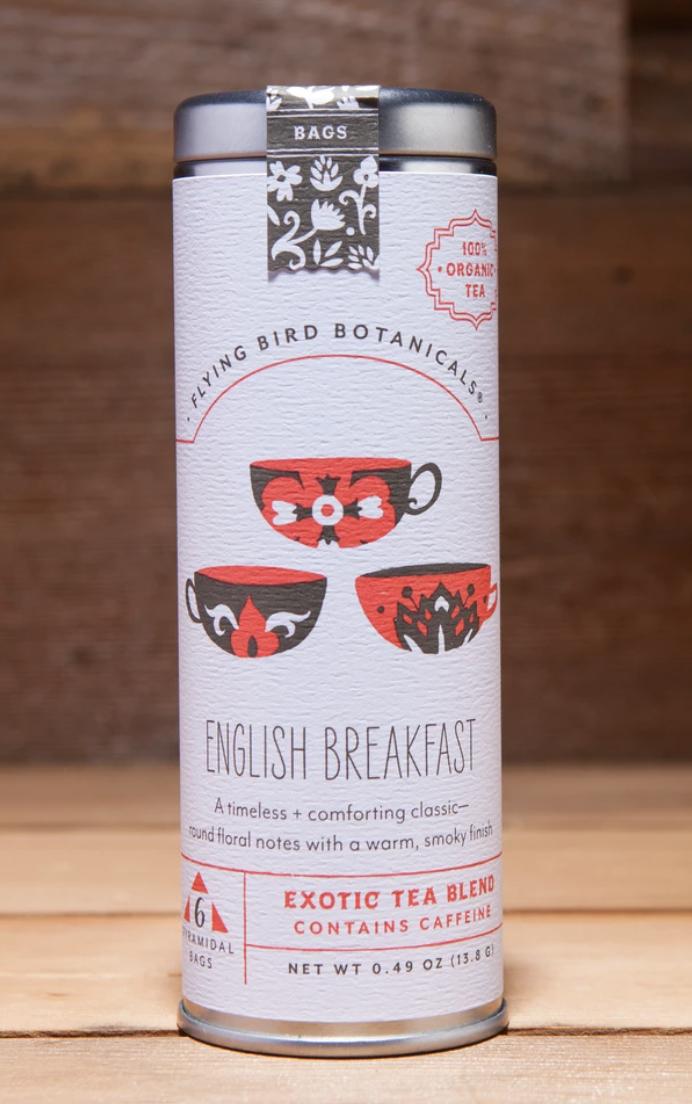 Flying Bird Botanicals: English Breakfast, 6 bag