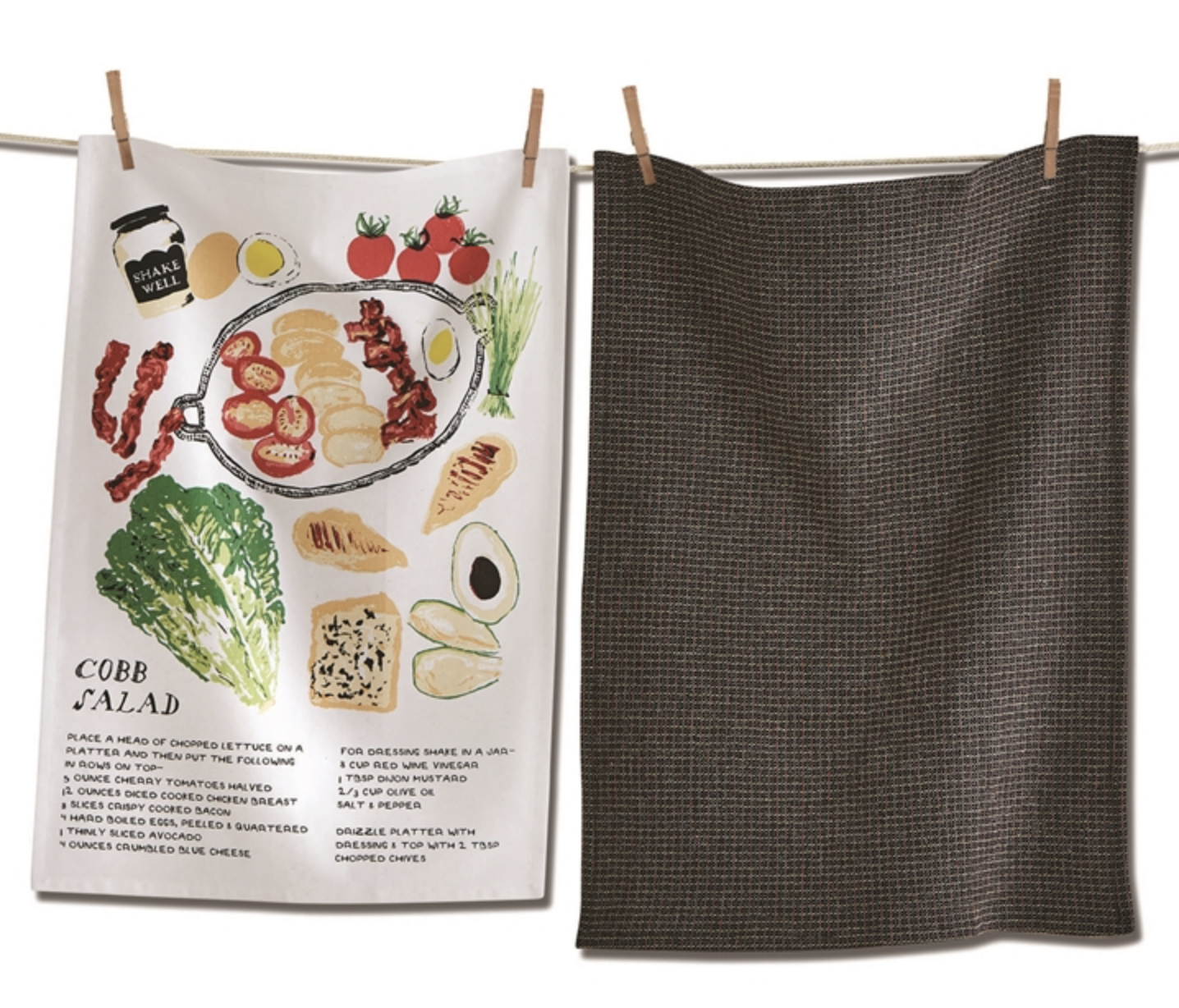 Cobb Salad Dish Towel Set/2