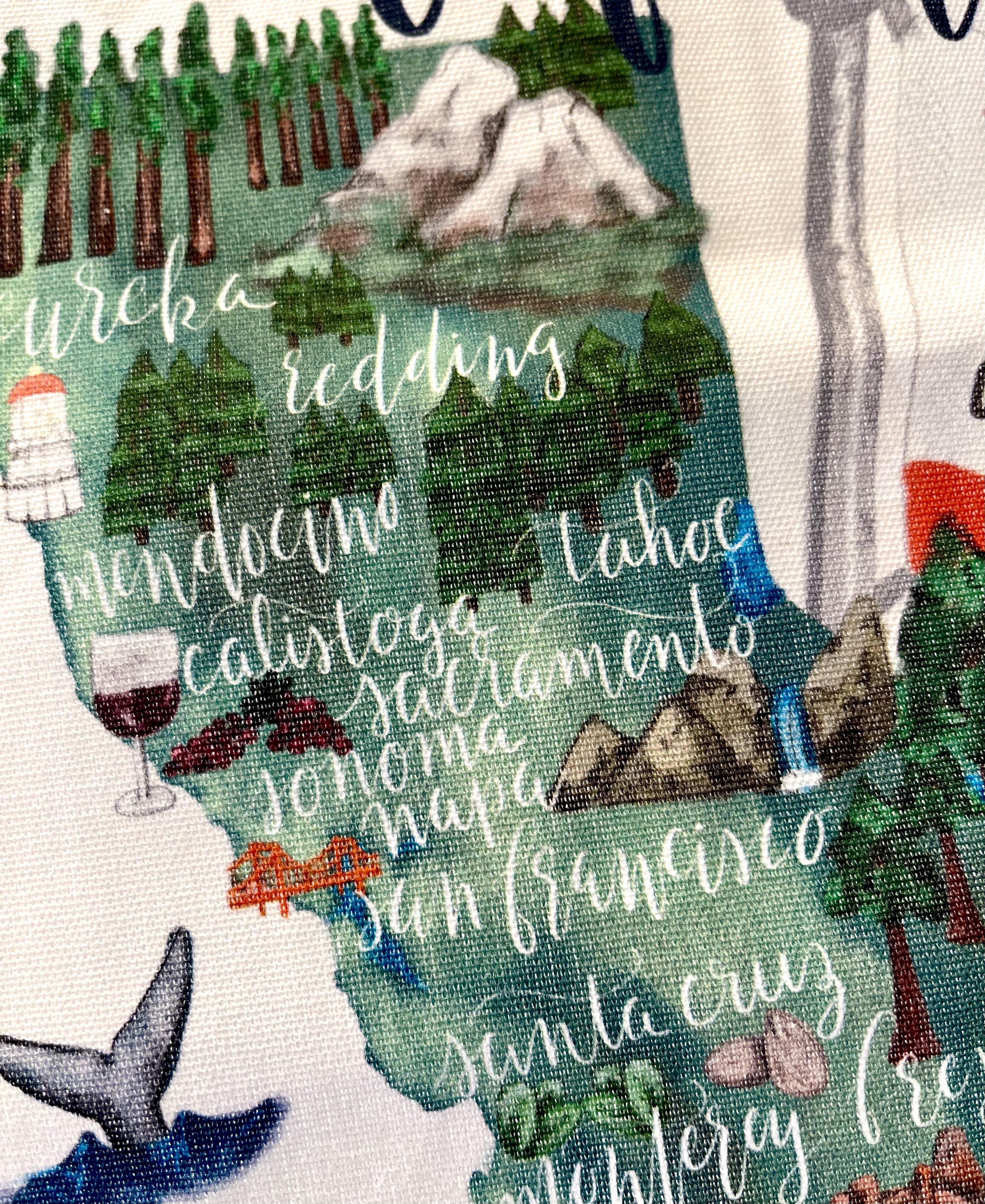 California: Tea Towel