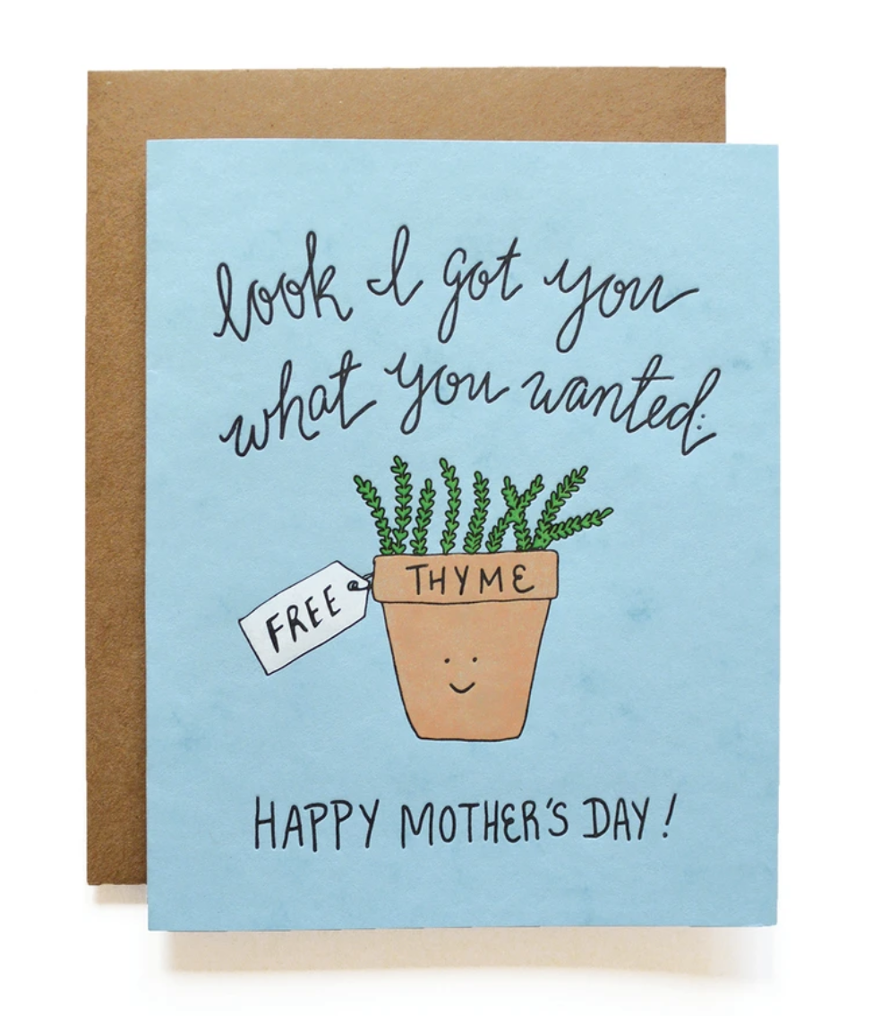 Mother's Day Thyme, Blank Greeting Card