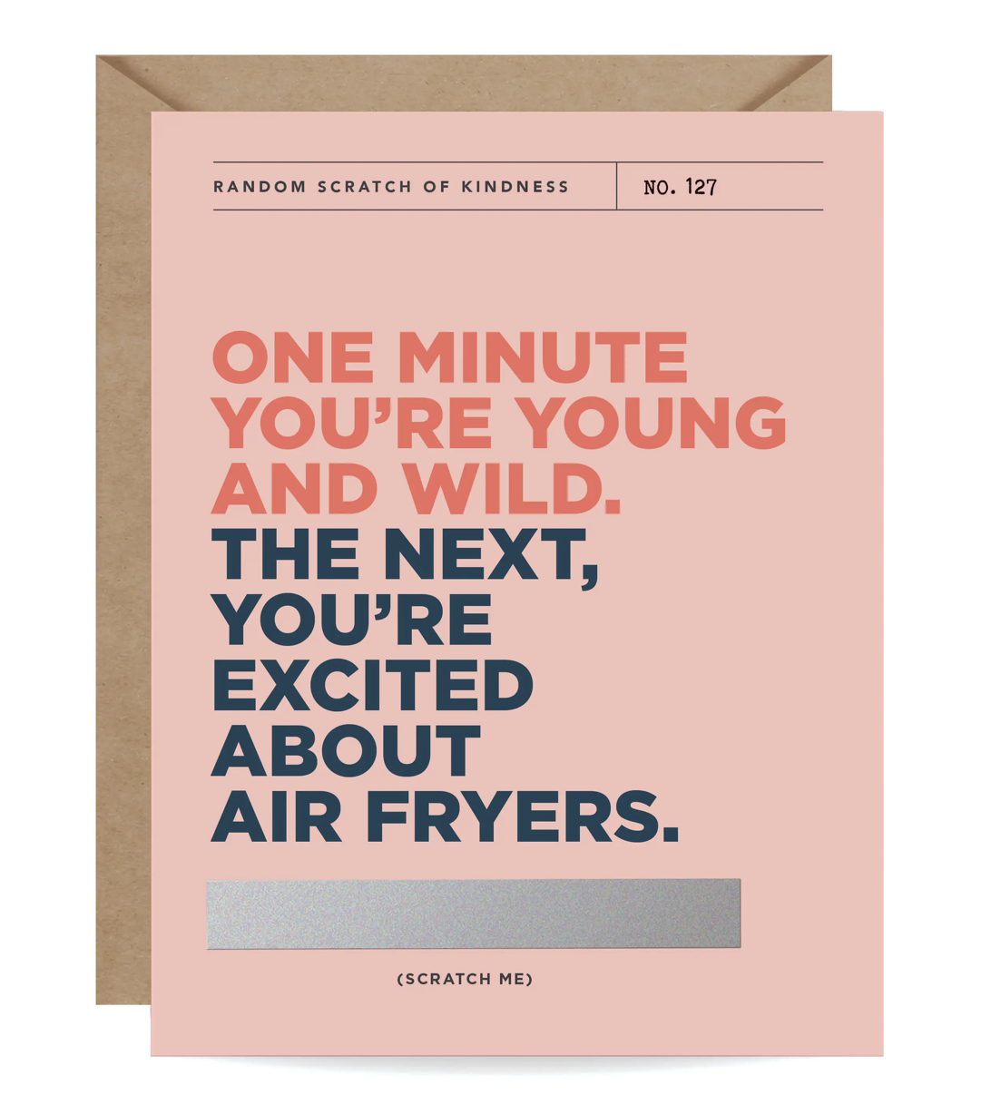 Airfryers Scratch-Off Blank Greeting Card