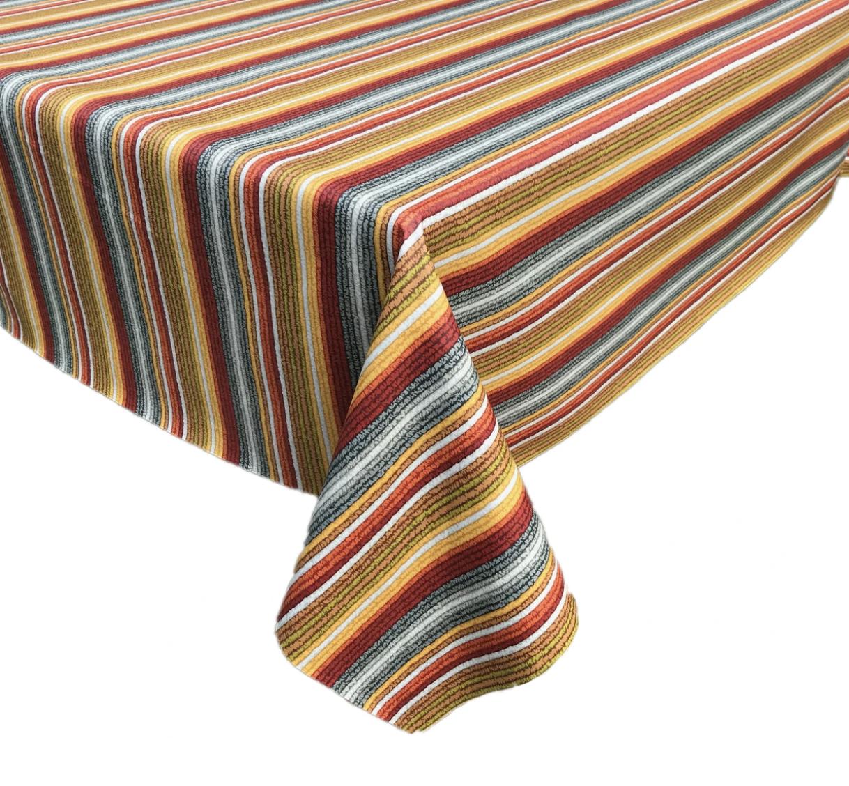 Splash Fabric Rectangular Oilcloth Tablecloth: Moab (Warm)