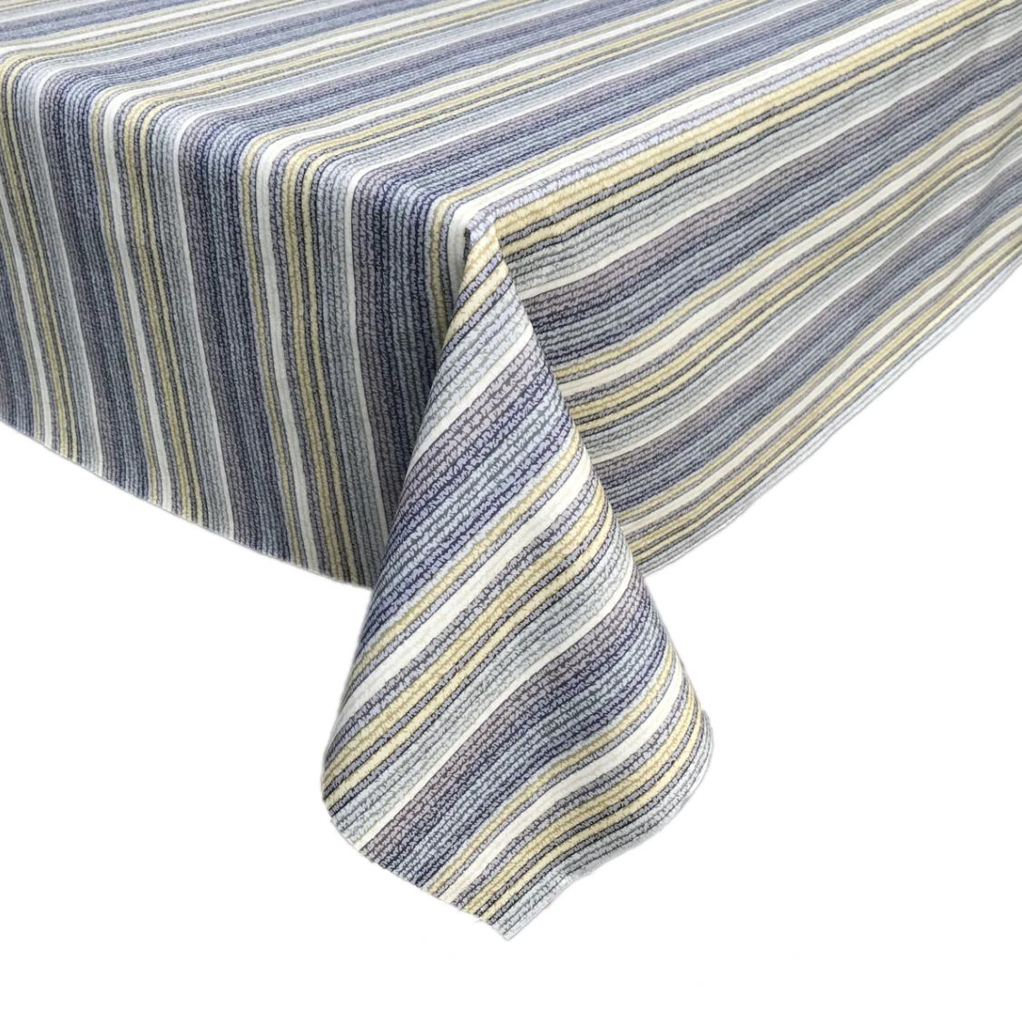 Splash Fabric Rectangular Oilcloth Tablecloth: Malibu (Cool)