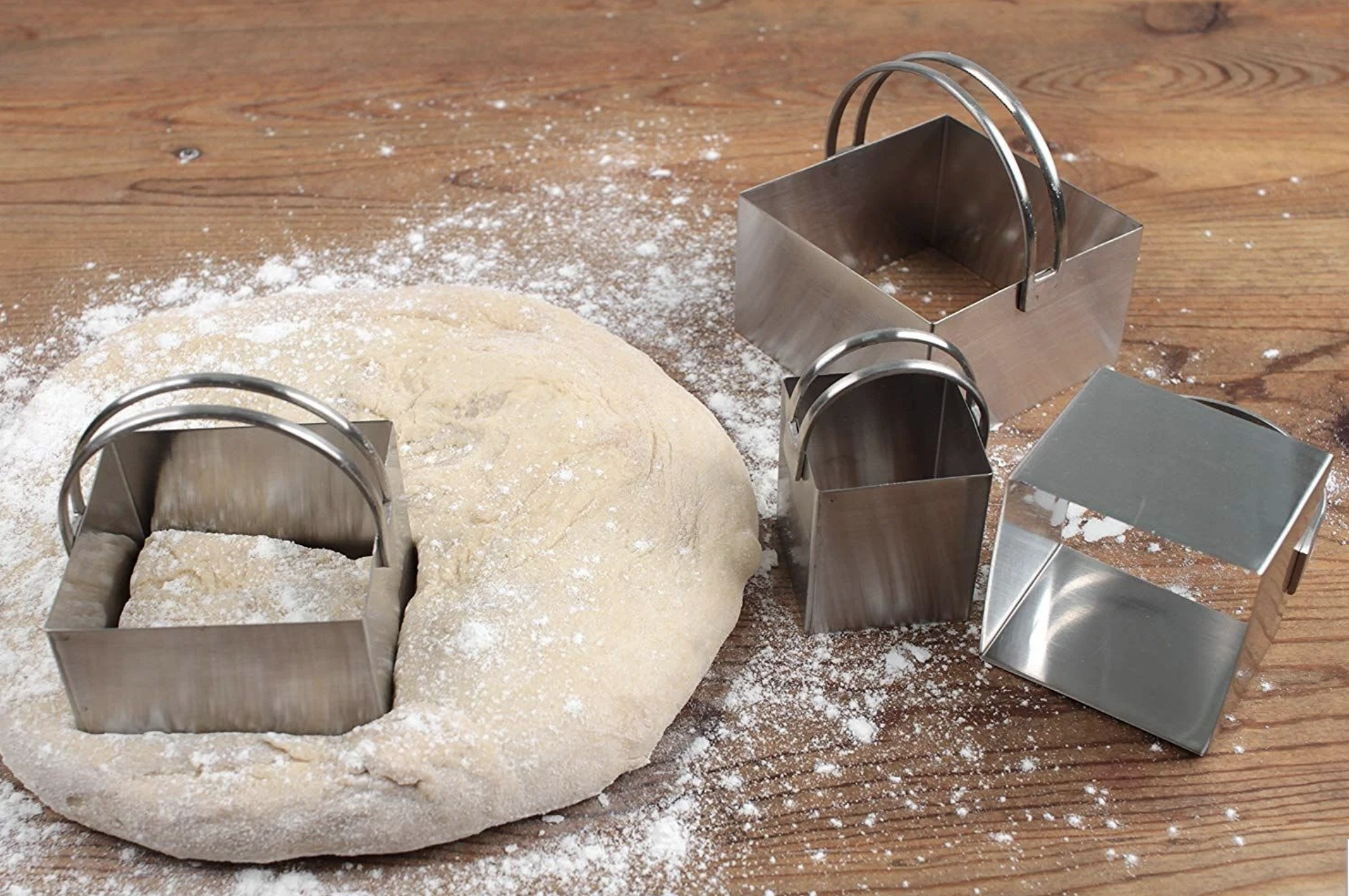 Stainless Steel Biscuit Cutters, set/4--CHOOSE SHAPE