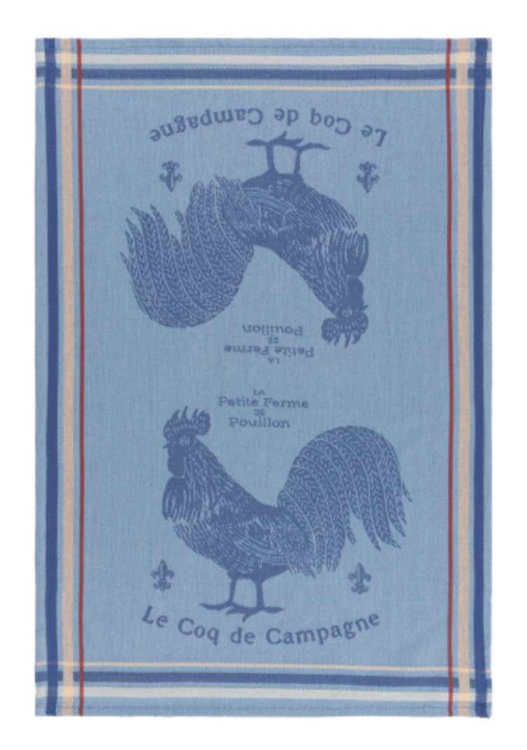 Blue Rooster, Jacquard Tea Towel