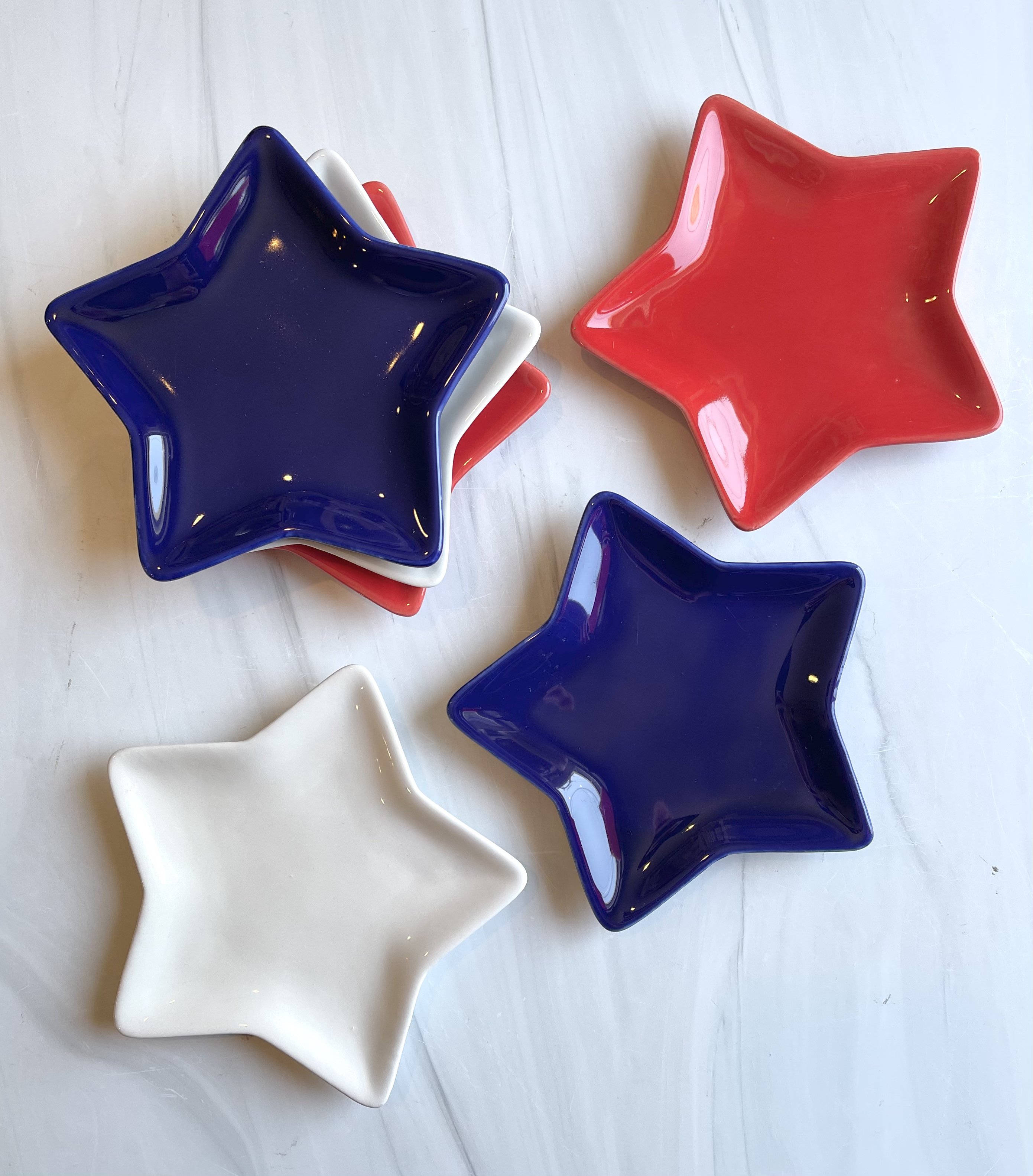 Red White & Blue Star Dish—CHOOSE COLOR