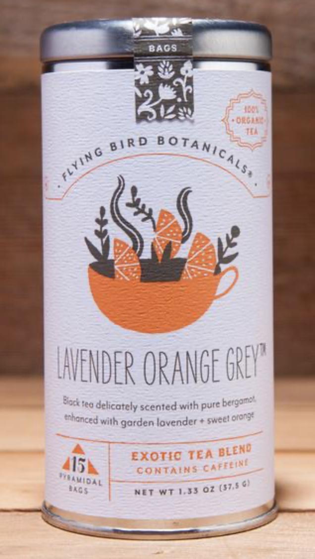 Flying Bird Botanicals: Lavender Orange Grey, 6 bags