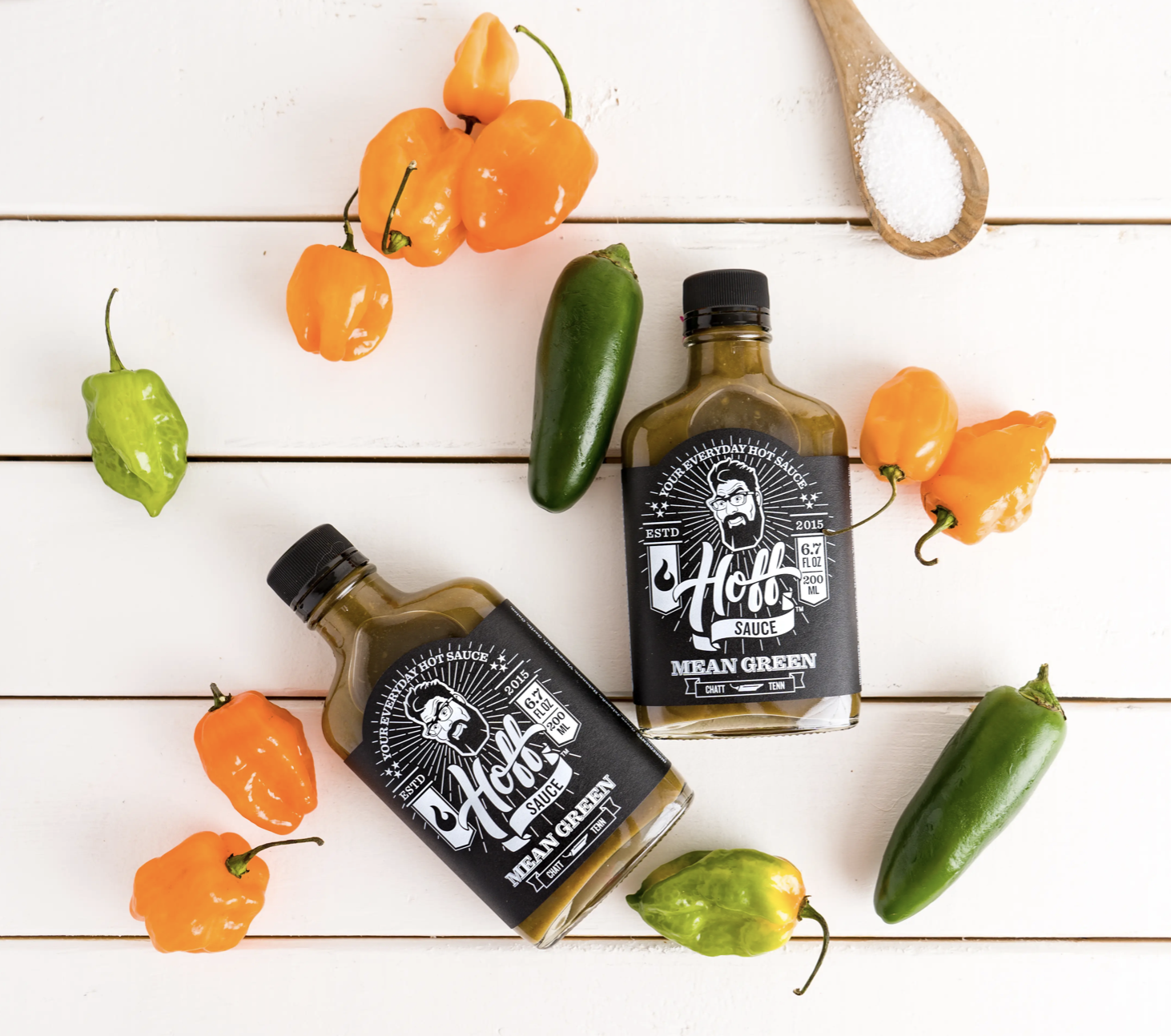 Hoff Sauce, Mean Green, 6.7 fl oz