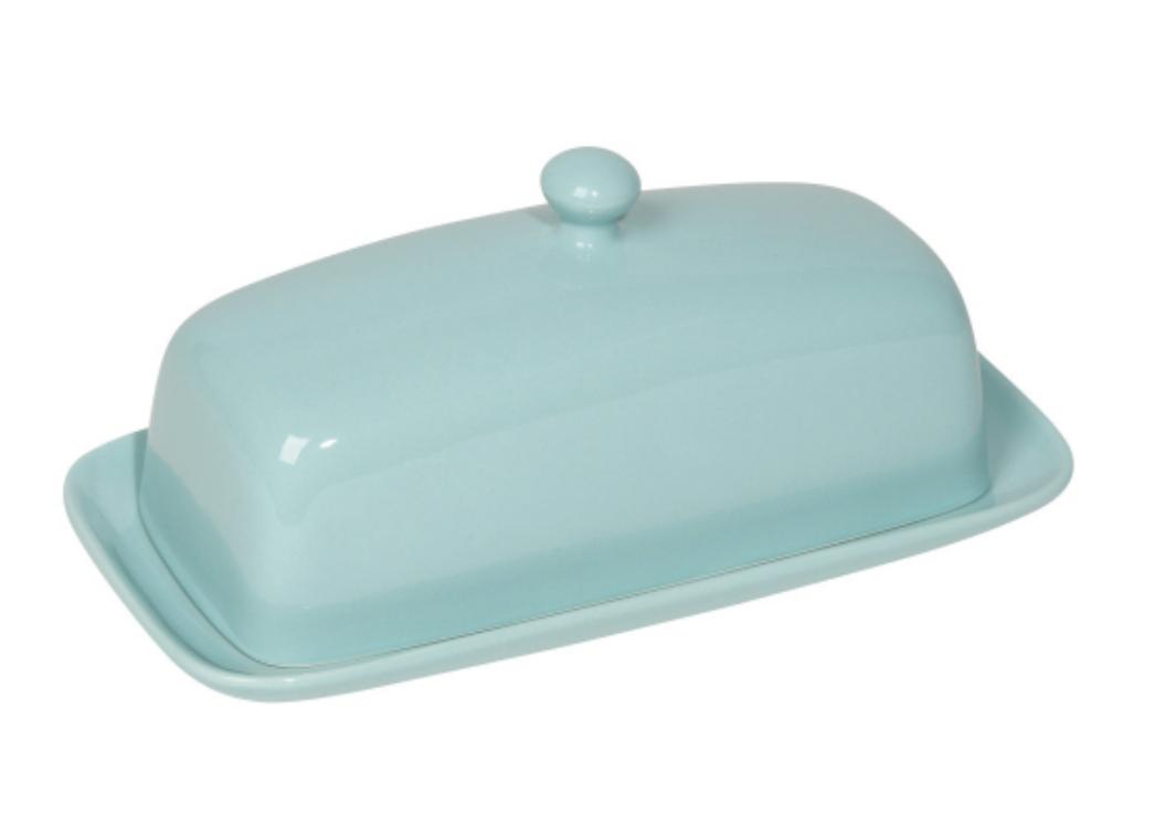 Stoneware Rectangular Butter Dish--CHOOSE COLOR