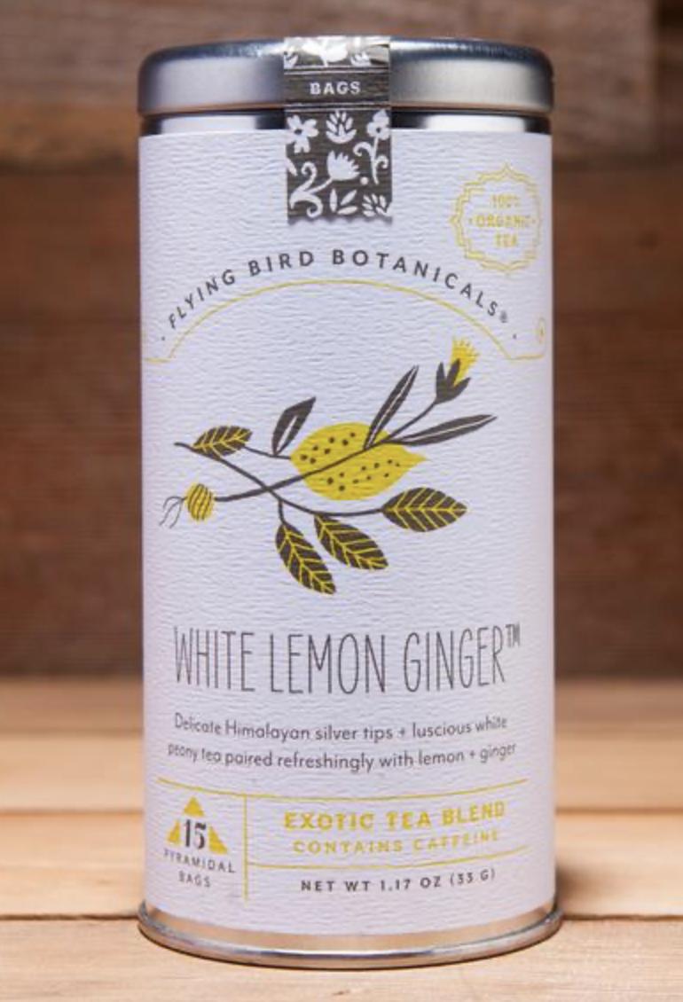 Flying Bird Botanicals: White Lemon Ginger, 6 bags