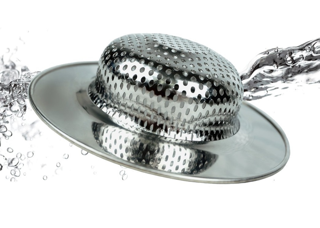 """Stainless Steel Sink Strainer, Large, 4.5"""""""