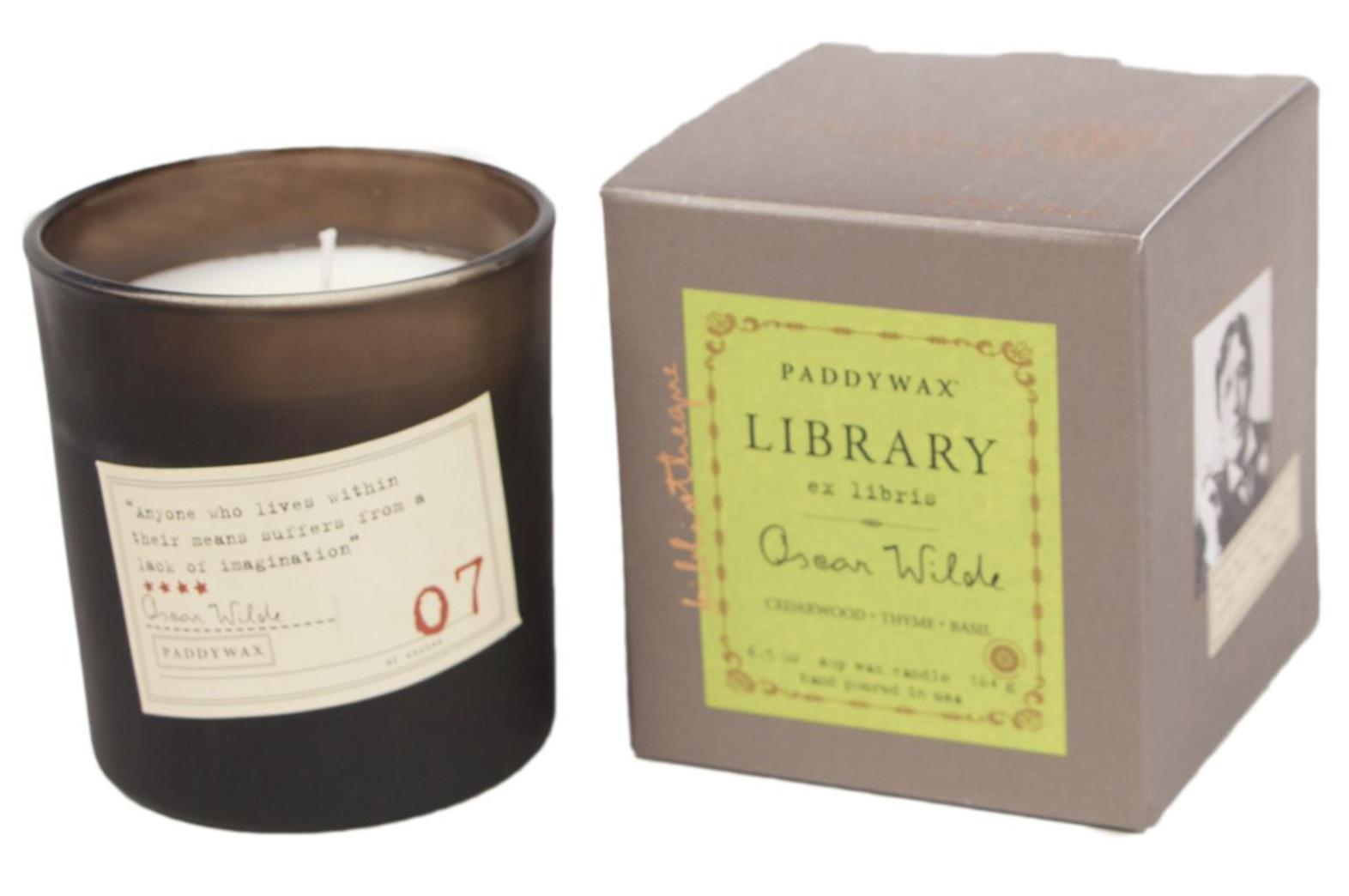 Paddywax Library Candle, Oscar Wilde, 6.5oz