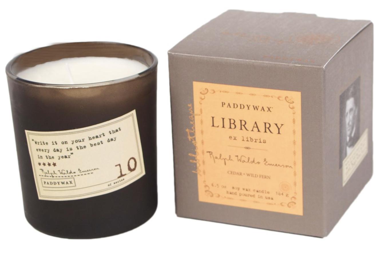 Paddywax Library Candle, Ralph Waldo Emerson, 6.5oz