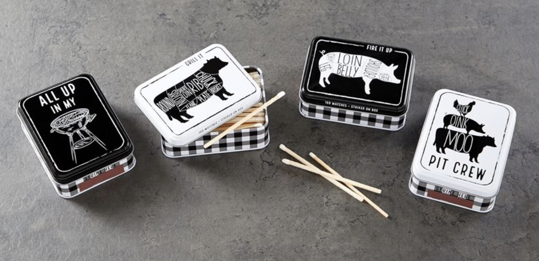 Grilling Season Tin of Matches--CHOOSE DESIGN