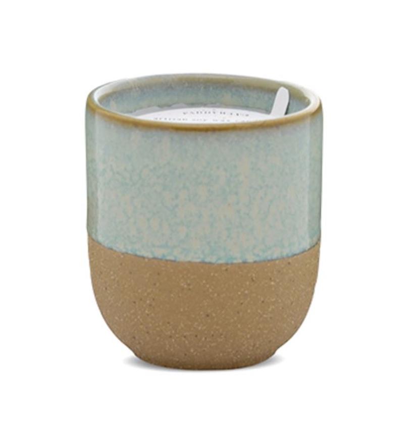 Paddywax Kin 3.5oz Ceramic Candle: Matcha Tea + Bergamot
