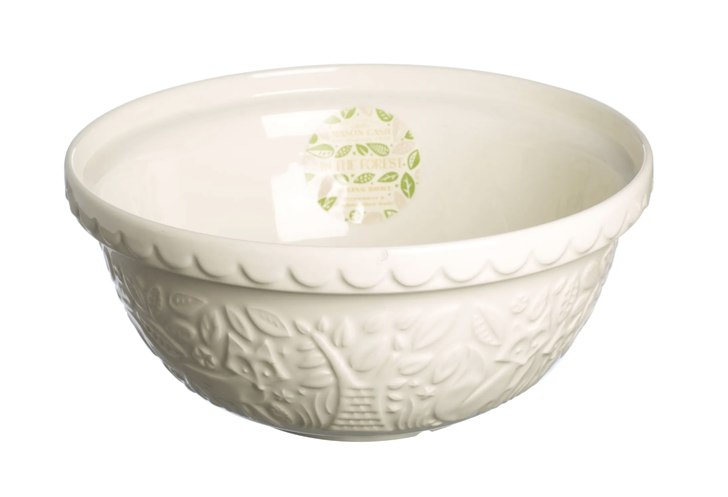 """In the Forest Cream Fox Mixing Bowl, S12/29cm/11.5"""""""