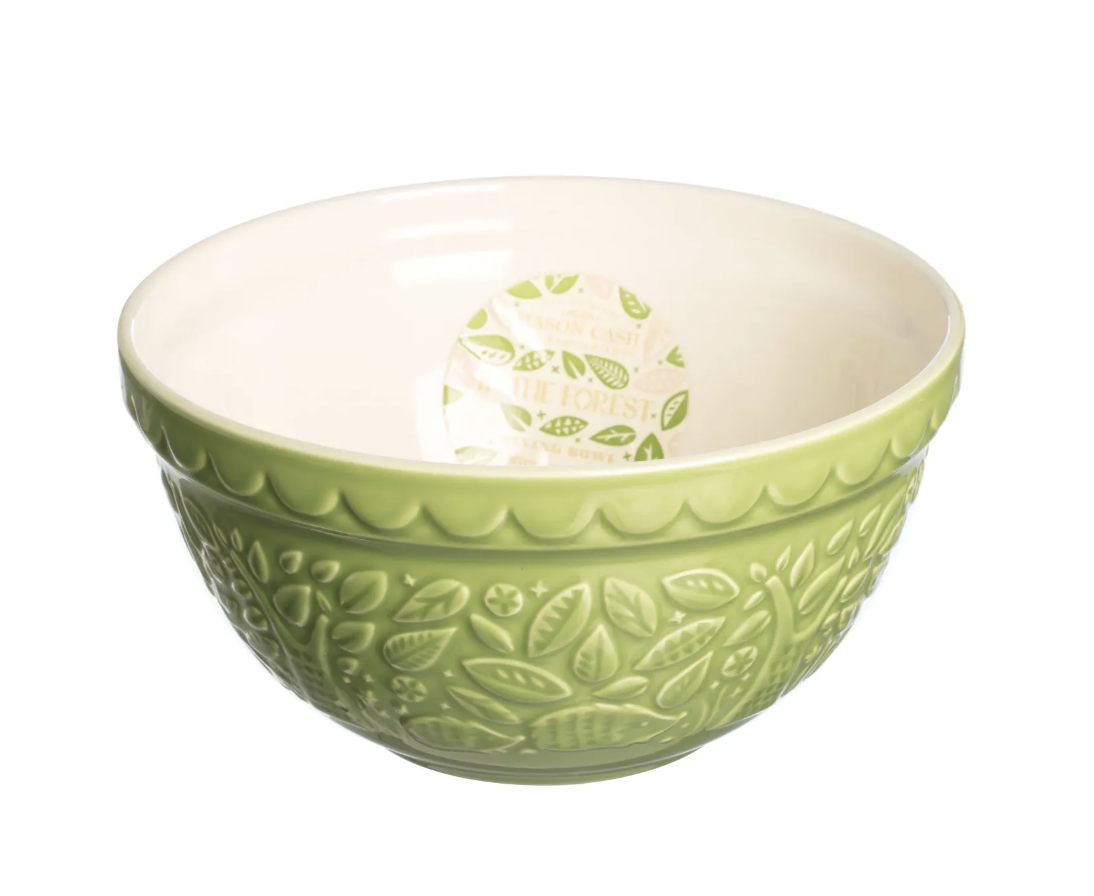 """In the Forest Green Hedgehog Mixing Bowl, S30/21cm/8.25"""""""