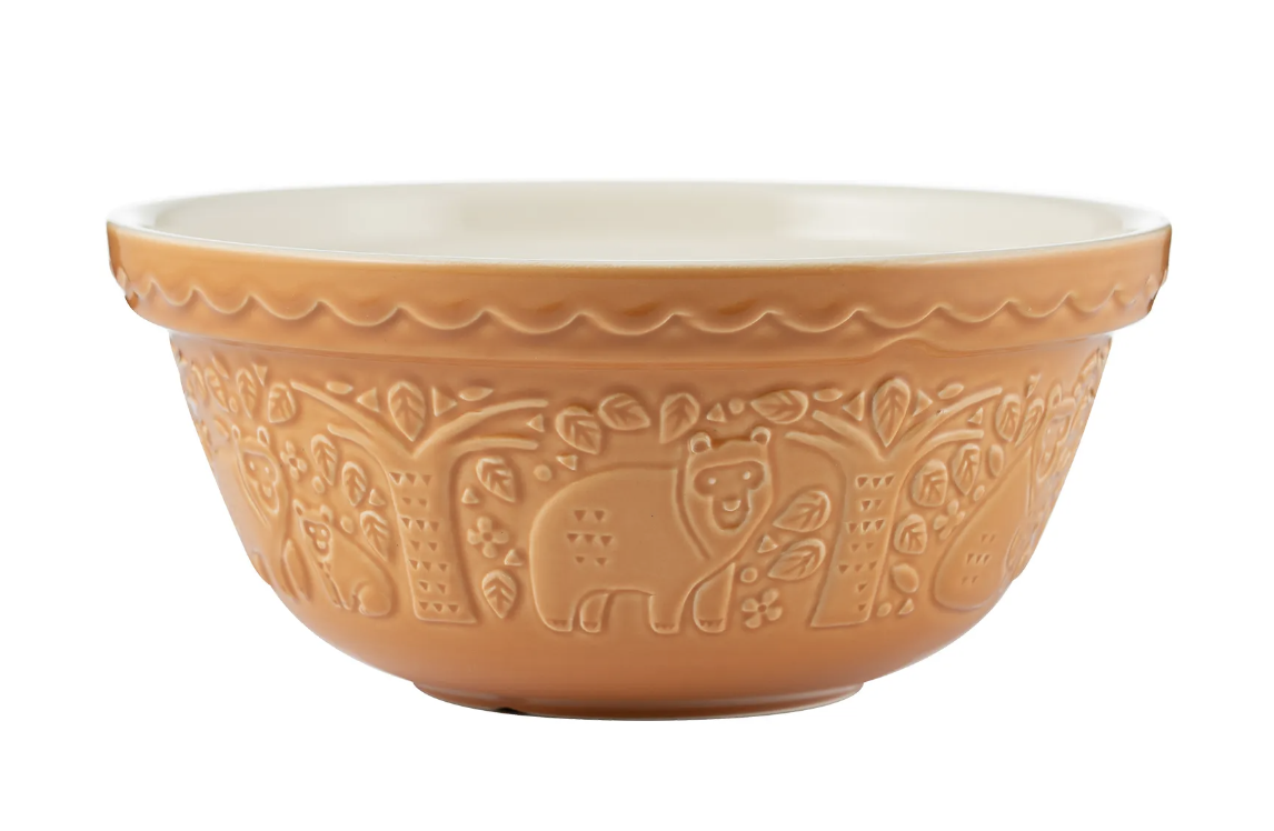 """In the Forest Ochre Bear Mixing Bowl, S24/24cm/9.5"""""""