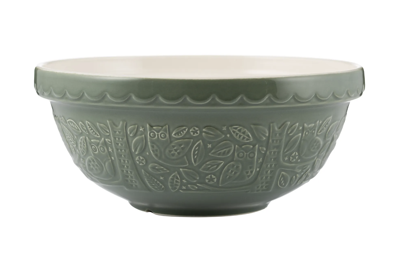 """In the Forest Teal Owl Mixing Bowl, S18/26cm/10"""""""