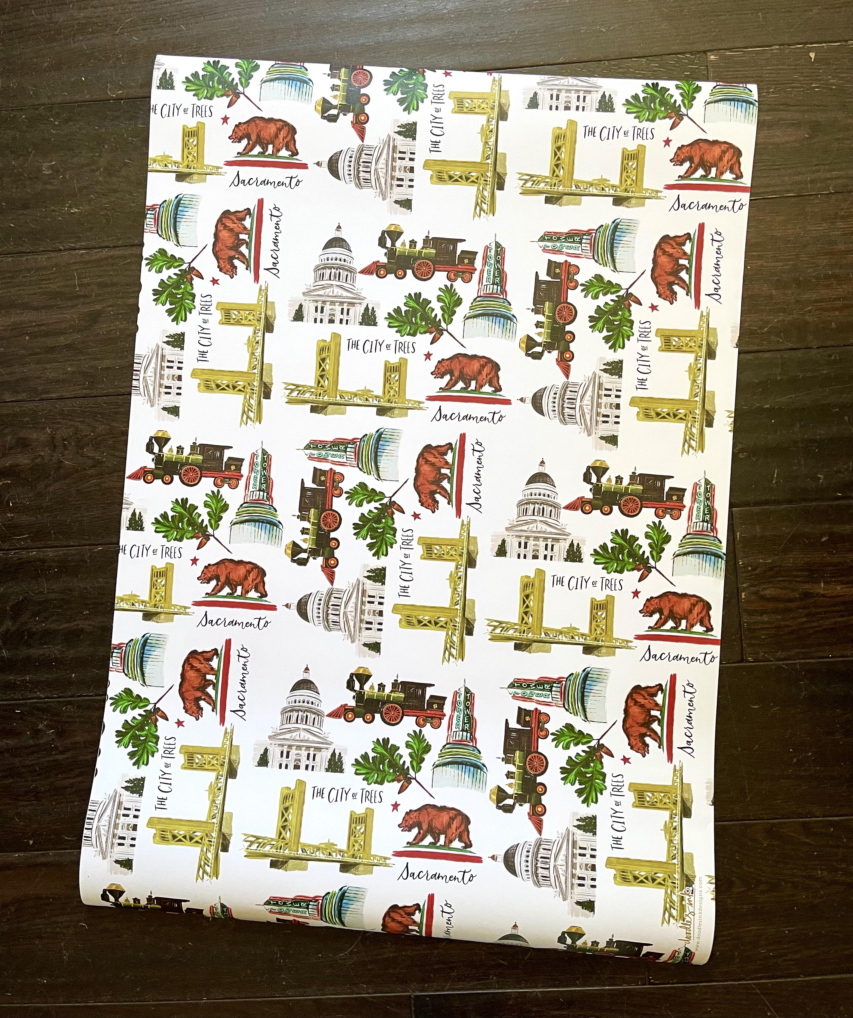 Sacramento Icons Wrapping Paper--CHOOSE SINGLE SHEET OR SET/3