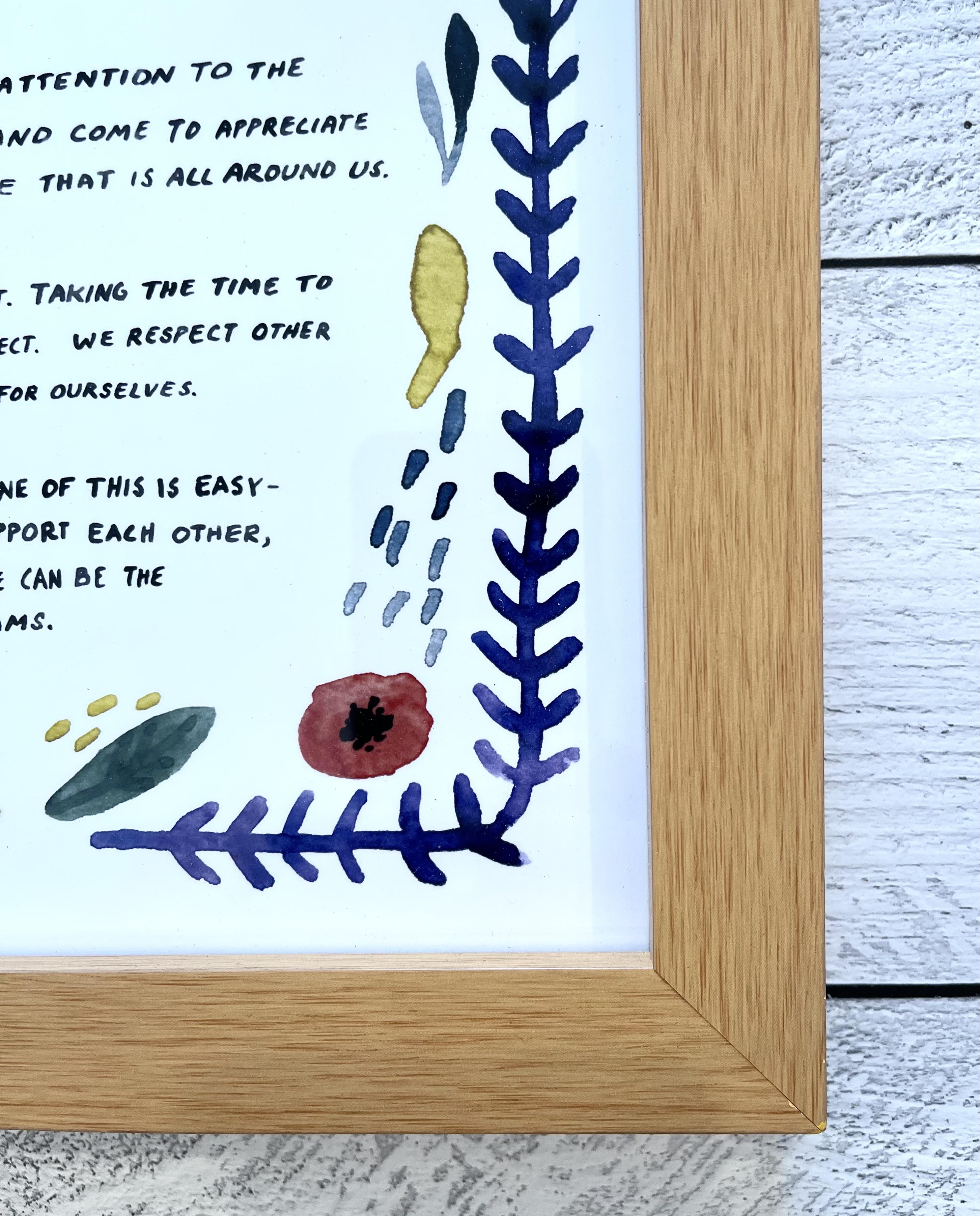 """""""Our Family Manifesto"""" little truths studio Art Print, 11x14 art print--CHOOSE UNFRAMED OR FRAMED"""