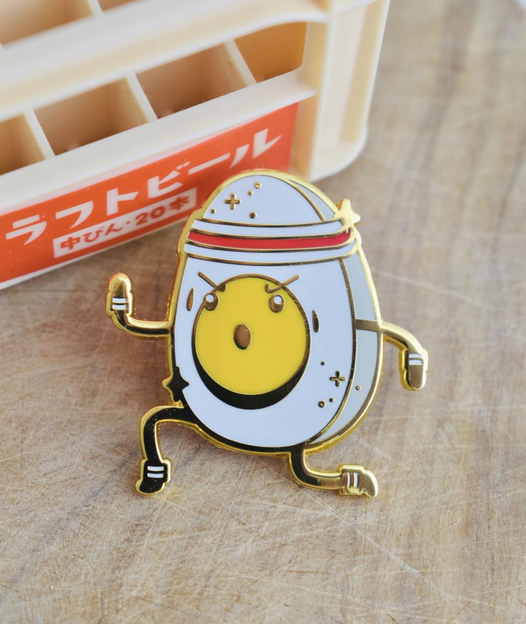 Eggsercise Enamel Pin