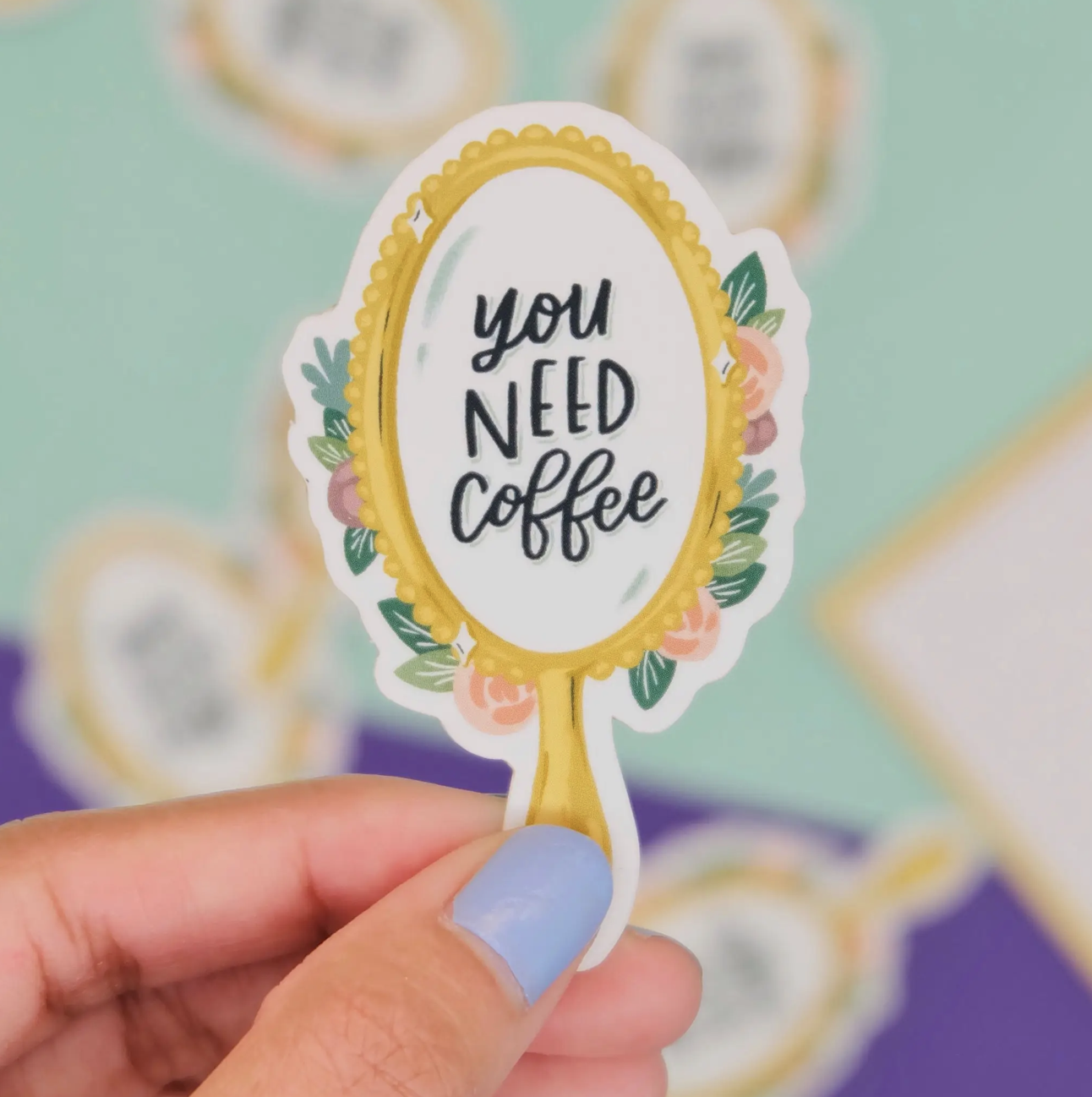 """You Need Coffee"" Vinyl Sticker"