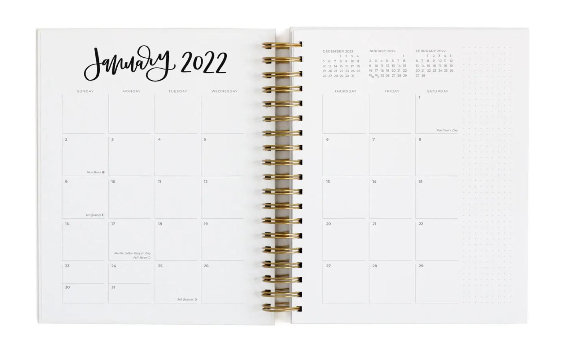 Emerson Arches 2022 Calendar Year Planner