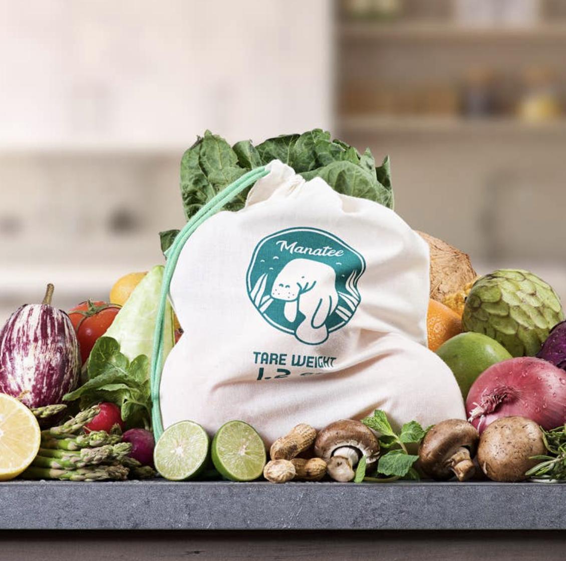 Manatee Reusable Produce Bags, Set 3