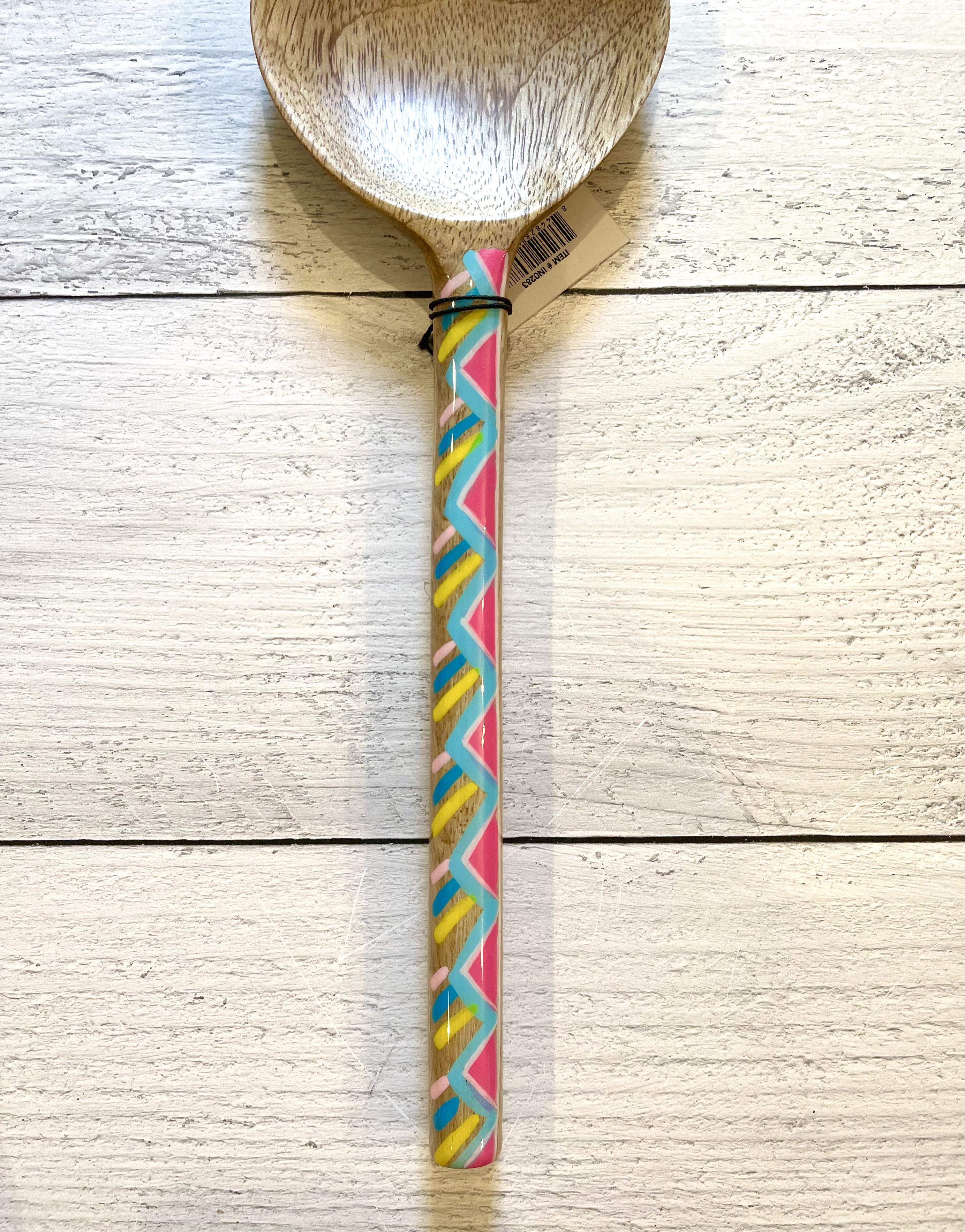 Handpainted Geometic Wooden Spoons--CHOOSE COLOR/DESIGN