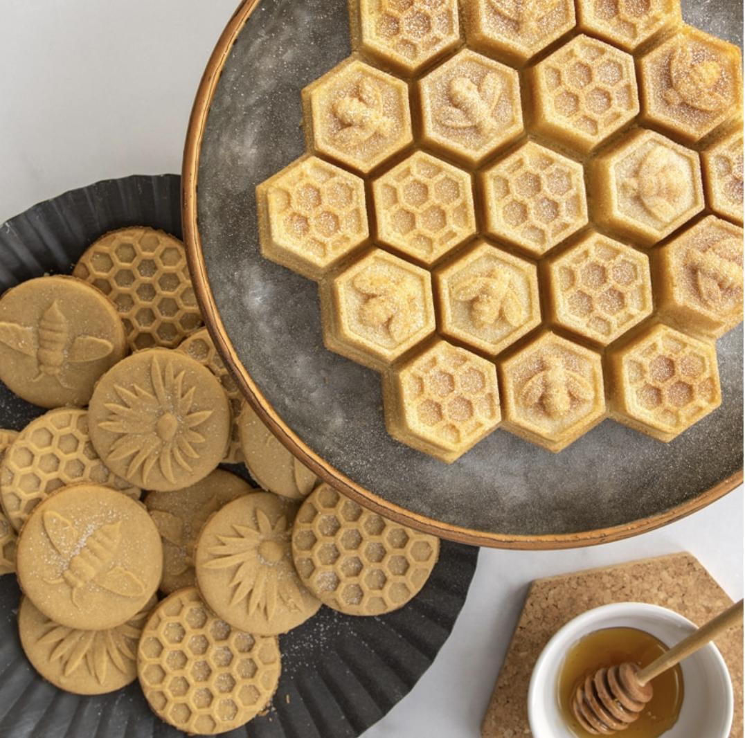 Honeybee Cast Cookie Stamps, set/3