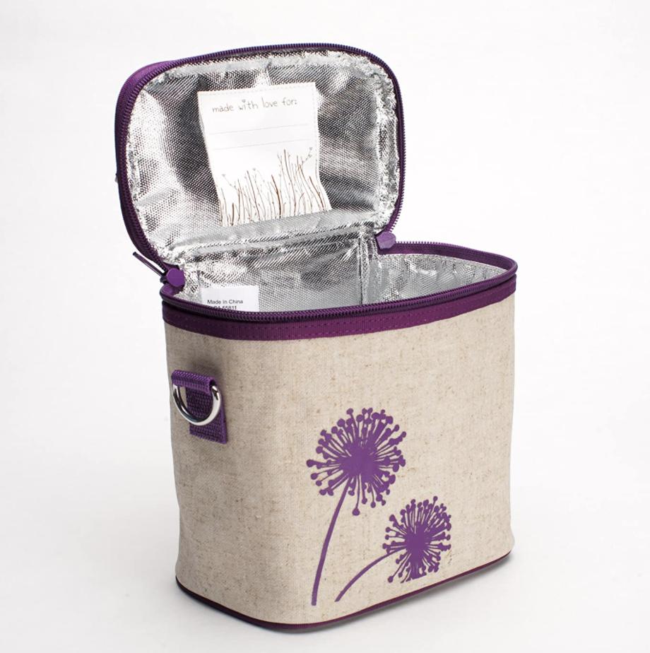 Purple Dandelion Linen SoYoung Cooler