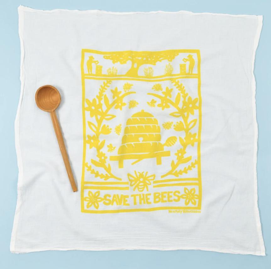Bees - Flour Sac Dish Towel