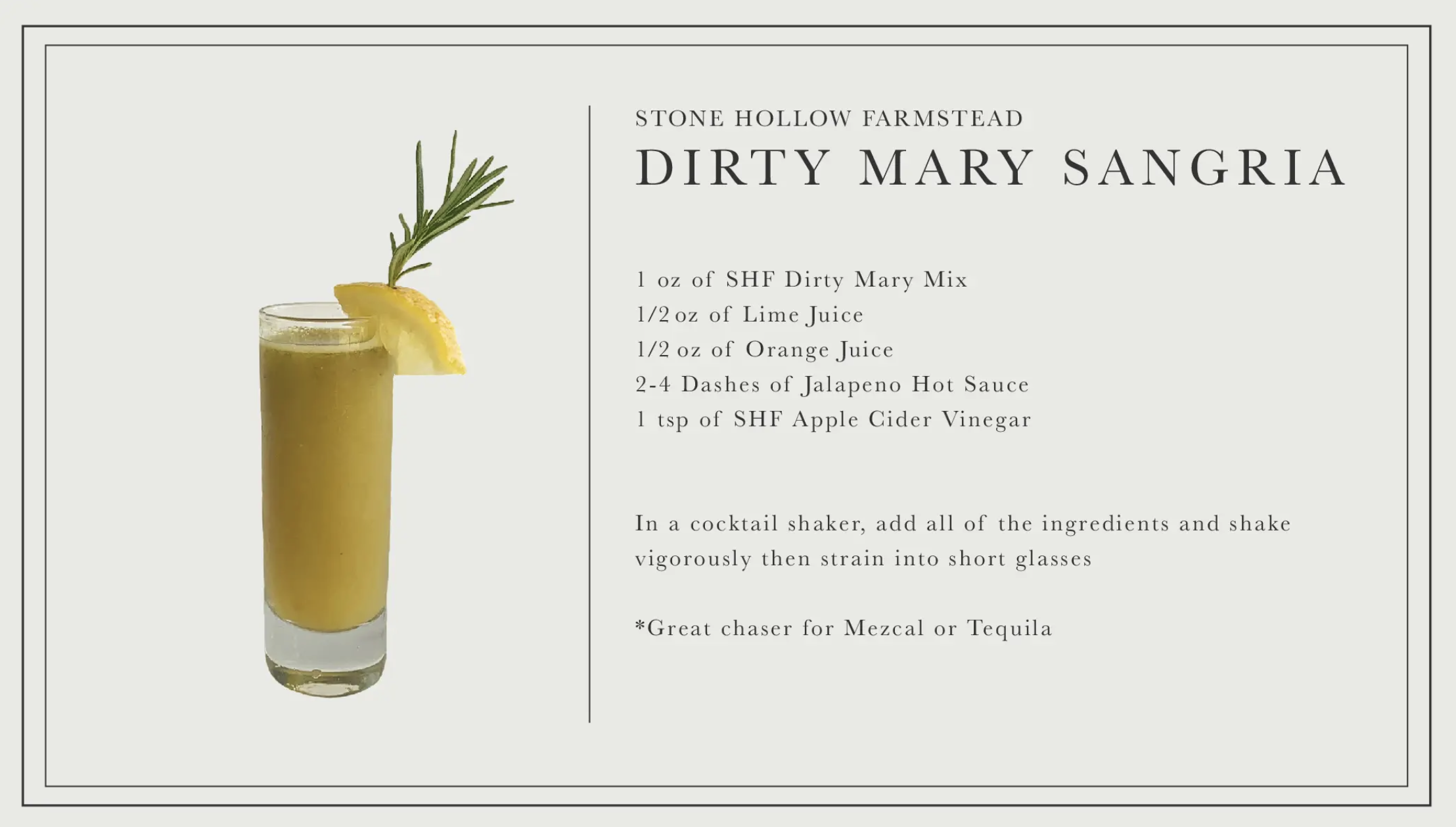 Dirty Mary Bloody Mary Mix