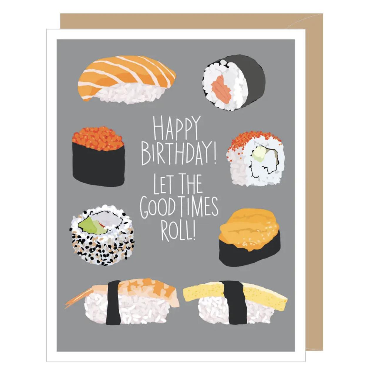 Sushi Blank Birthday Card