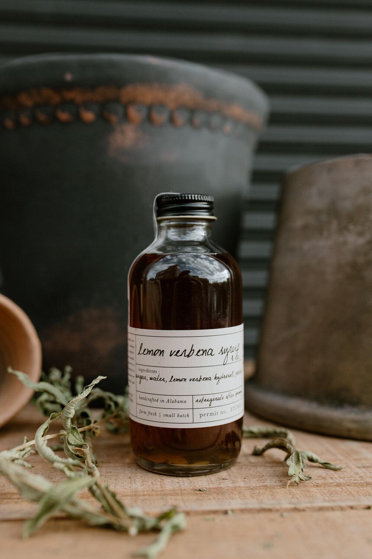 Stone Hollow Farmstead Lemon Verbena Syrup