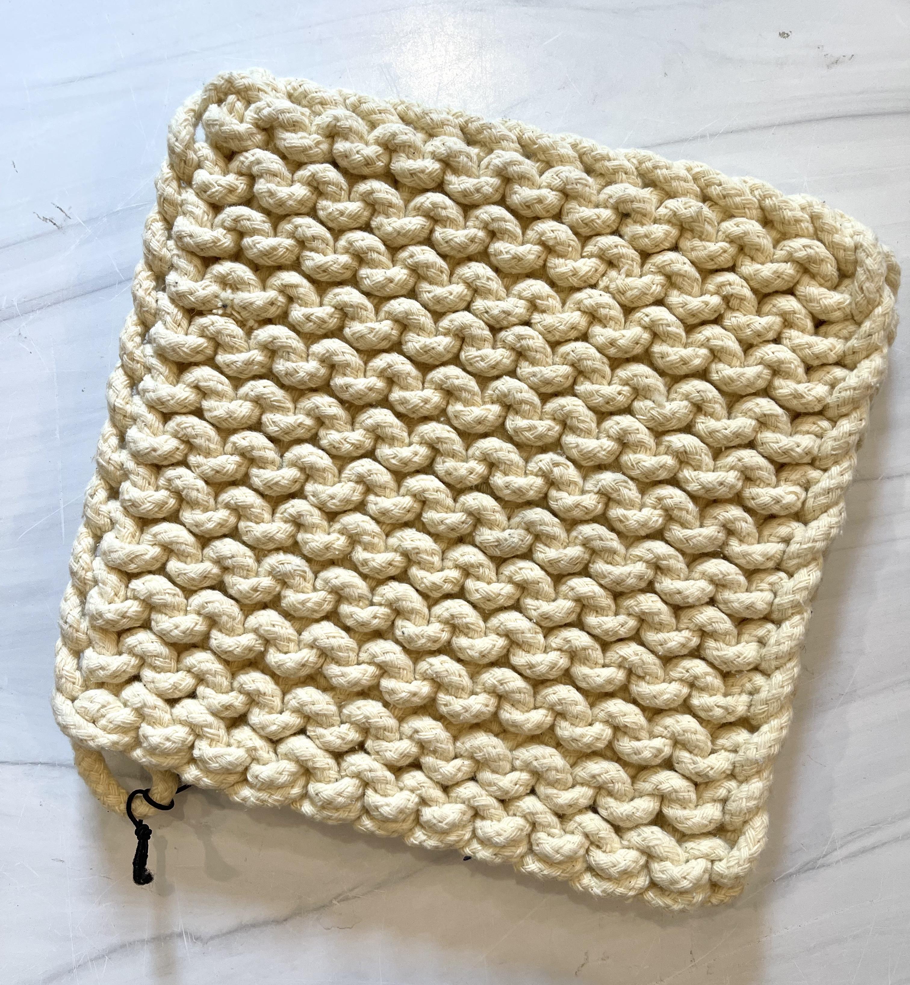 "Chunky Crocheted Potholder, 8""--CHOOSE COLOR"