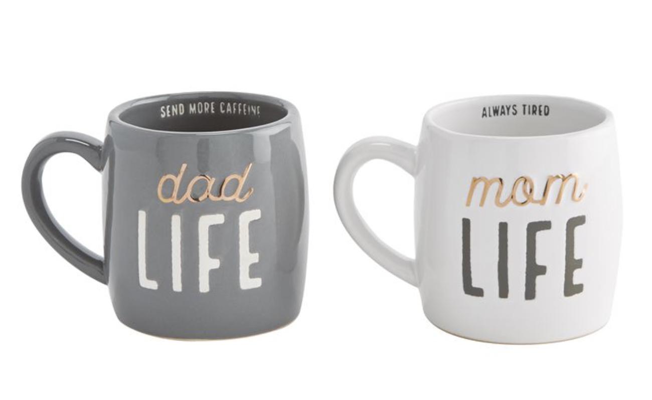"""""""Mom Life""""/""""Dad Life"""" Ceramic Mug--CHOOSE DESIGN"""