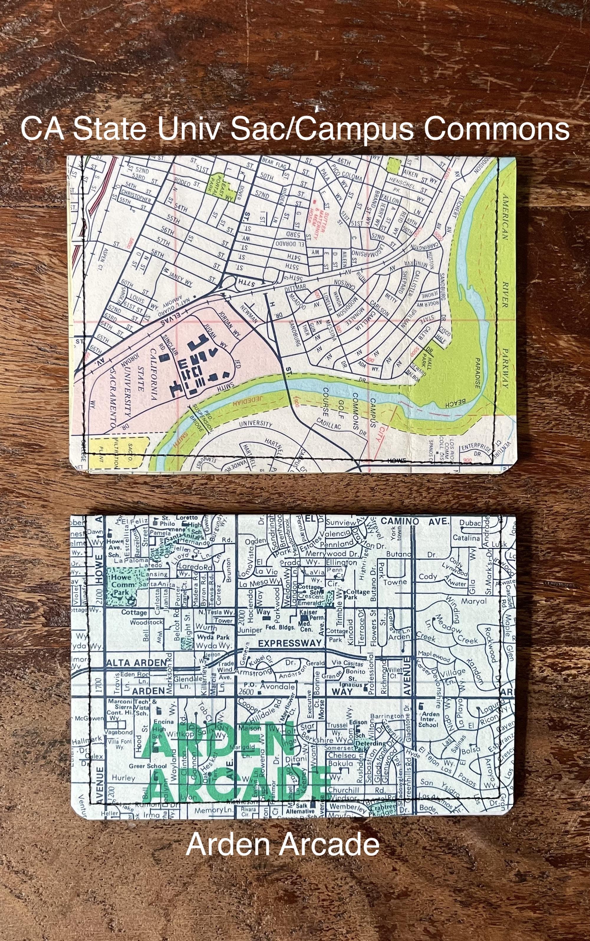 Sacramento Maps Slim Wallet--CHOOSE DESIGN