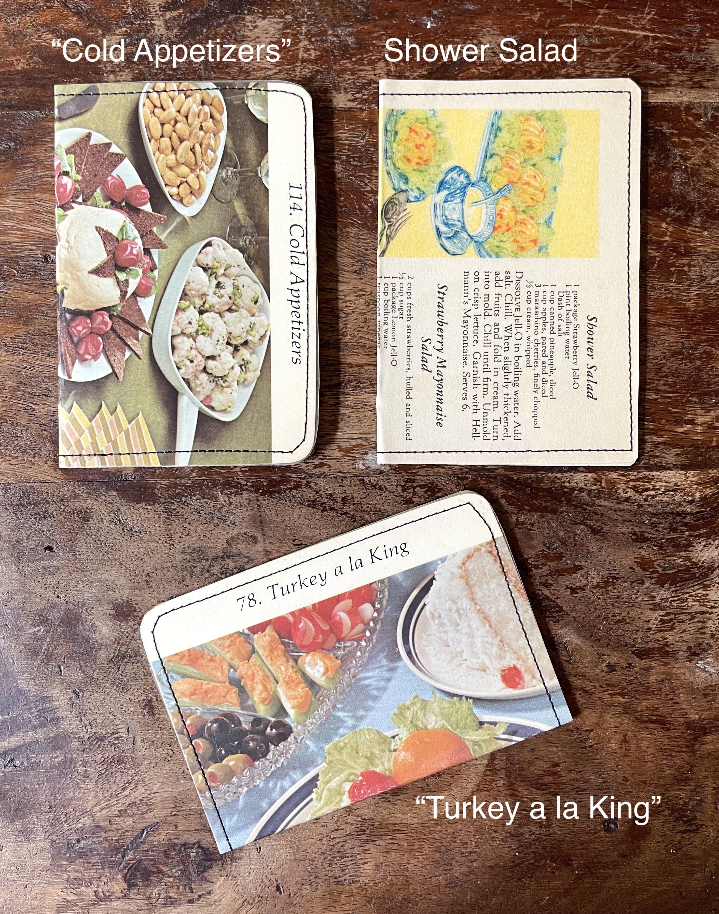 Vintage Cookbooks Slim Wallet--CHOOSE DESIGN
