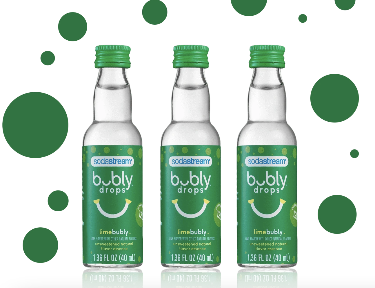 SodaStream bubly drops Unsweetened Natural Flavor Essence, 40ml--CHOOSE FLAVOR