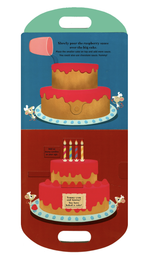 """""""Let's Bake a Cake!"""" A Lift the Flap Activity Book, Board Book"""